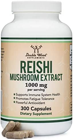 Reishi Mushroom Capsules 4 1 Ganoderma Extract 1 000mg Reishi Powder Servings 300 Count 5 Month product image