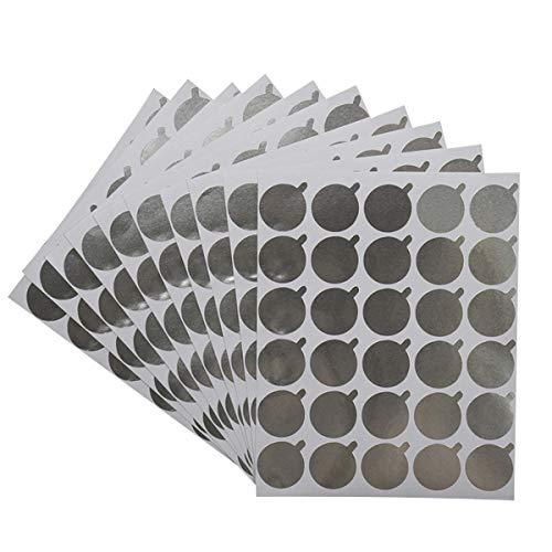 Ruiqas 300pcs 2cm porte-colle à cils jetable palette tinfoil autocollant papier cils extension colle pad pad cosmétique maquillage outil