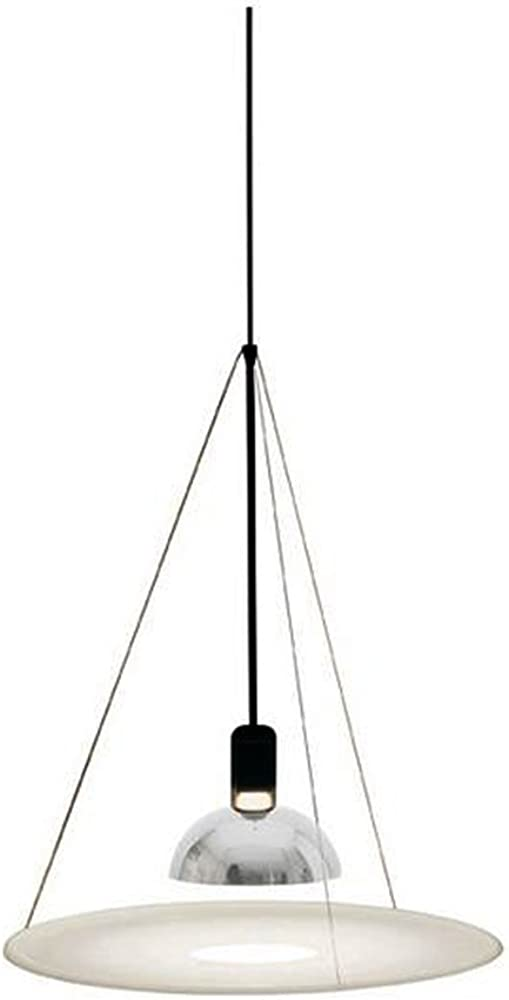 Flos frisbi lampada, e27, 70 watts, bianco/nero F2500000