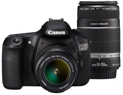 Canon デジタル一眼レフカメラ EOS 60D ダブルズームキット EF-S18-55mm EF-S55-250mm付属 EOS60D-WKIT