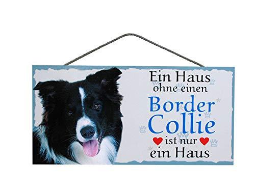 Pfrontenschmuck Türschild Border Collie (9) aus Holz Schild Hund deutsche Herstellung
