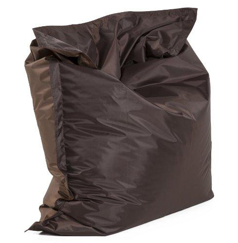 Alterego - Pouf géant 'LAZY' brun/brun 180x140cm