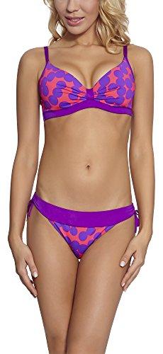 Feba Damen Bikini Set N3C4L2 (Muster-24DK, Cup 80 G/Unterteil 40)