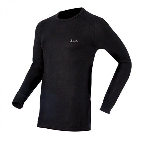Odlo Herren Langarm Tshirt Crew Neck Warm, Black (Schwarz), M