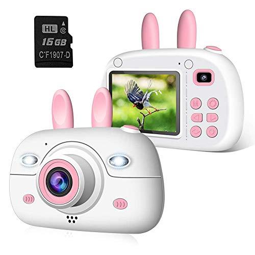 2NLF Macchina Fotografica per Bambini, Bambina Fotocamera Digitale Portatile Selfie Videocamera per Bambine 2.4 Pollici LCD Outdoor Travel Portatile Fotocamera 800MP 1080P HD con Scheda SD da 16 GB
