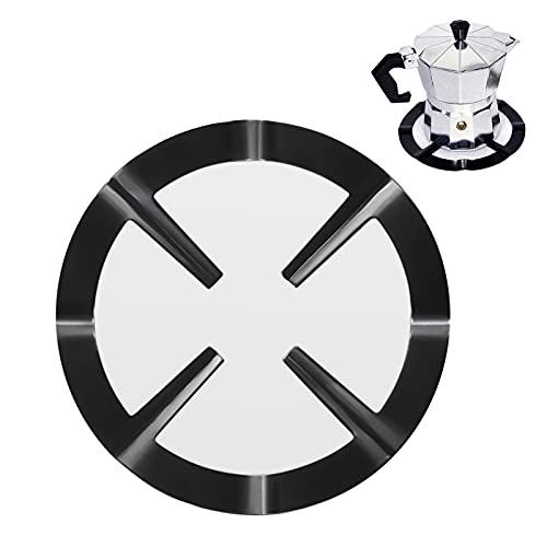 Soporte para cocina de gas de hierro fundido,Soporte Cafetera Cocina Cocina Gas, Gas Universal Reductor de Placa de Gas Quemador Soporte de Anillo Soporte de Rejilla