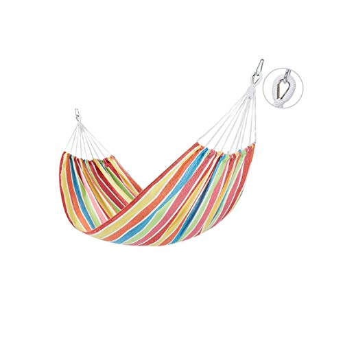 Hammocks, Double Camping Hammocks - Lightweight Nylon Portable Hammock, Best Parachute Hammock for Backpacking, Camping, Hiking, Beach with Free Heavy Duty Carabiner Clips The latest style XYXG