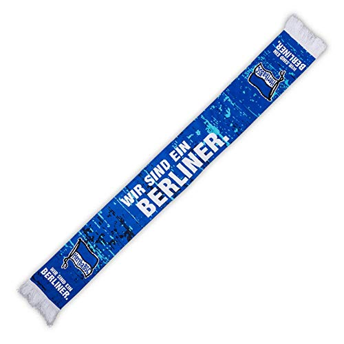 Hertha BSC Berlin Wir sind ein Berliner Fanschal Schal (one size, Blau)