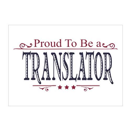 Idakoos Proud to BE a Translator Sticker Pack x4 6'x4'