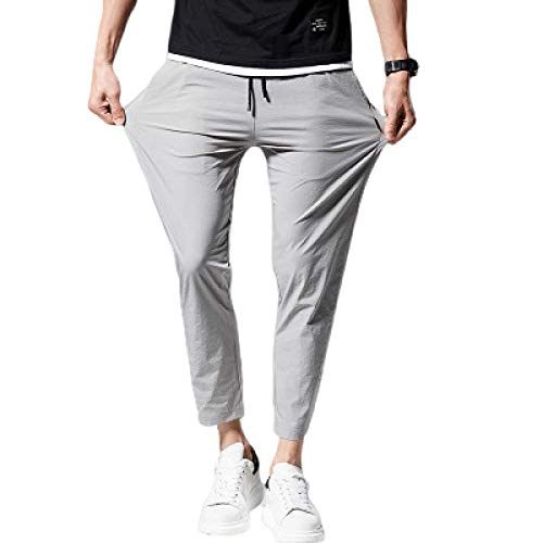 Pantalons pour Hommes Cargo Regular Army Combat Work Workwear with Pocket Loose Drawstring Solid Color Feet Pants Slim Pants