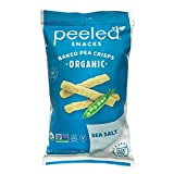 Peeled Snacks Organic Baked Pea Crisps, Sea Salt, 3.3 Ounce (Pack of 12)...