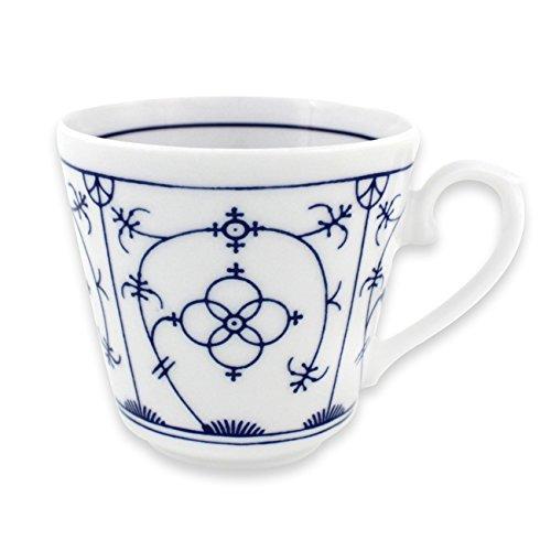 Triptis 6527920434732116 Tallin Indischblau Kaffee-Obertasse 200 ml, Porzellan, weiß/blau (4 Stück)