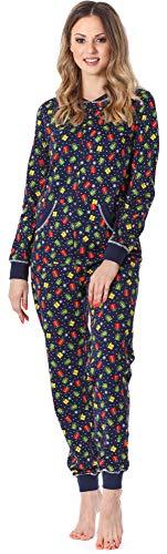 Merry Style Damen Schlafanzug Strampelanzug Schlafoverall MS10-175 (Marine Geschenk, S)