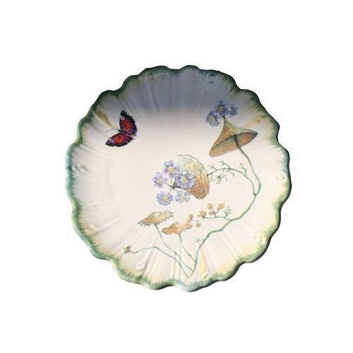 Faïencerie de Niderviller ~ Assiette à Pain Ronde Folies botaniques faïence - Lot de 4