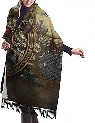 Private Eyes Relojes Steampunk Bufandas Pashmina para mujer Envoltura Bufandas Invierno Cálidas Regalo Reversible Suave Cachemira Bufanda Otoño Bufanda para Niñas