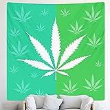 Tapiz de hoja de planta decoración del hogar escena psicodélica mandala tapiz hippie bohemio decoración del hogar tela de fondo A6 130x150cm