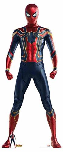 Star Cutouts 71 - Figura de araña de hierro (tamaño real, diseño de personaje de Marvel, multicolor