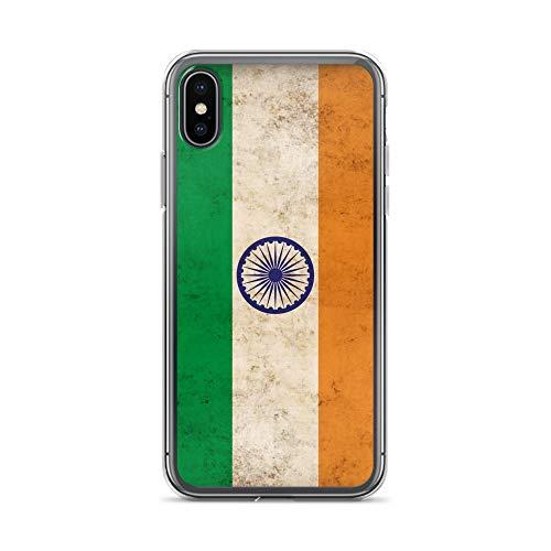 Carcasa para iPhone 5C, diseño de bandera india india, compatible con iPhone 5C, transparente, protección completa con dibujos animados M14