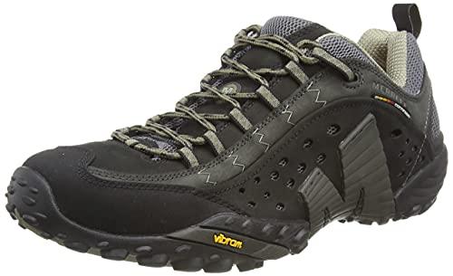 Merrell Men's Intercept Low Rise Hiking Shoes, Black (Smooth Black), 9 UK