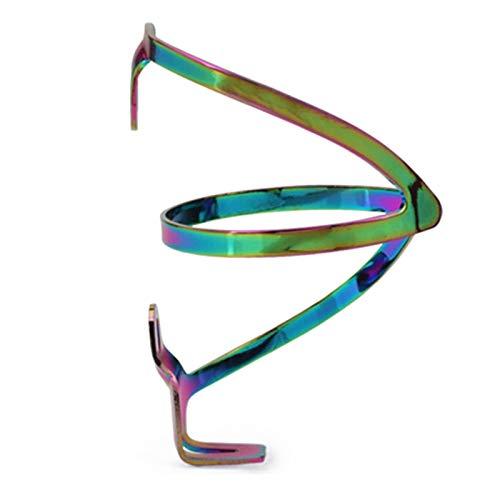 Rousa - Portabidones de agua para botella de agua, peso ligero, para bicicleta, soporte para vasos de bebidas, de acero inoxidable, soporte para hervidor de agua (colorido) (Multi 3)