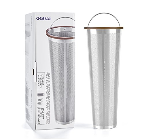 Ultra-Fine Mesh Cold Brew Coffee Filter to Use with 2-Quart Mason Jar
