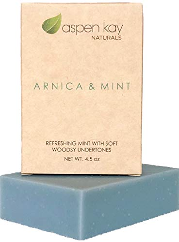 Price comparison product image Arnica Soap - 100% Natural and Organic Sports Soap for Athletes. Great for after Cross Fit,  Yoga,  Exercising or Working Out. Infused with Arnica and Pure Essential Oils. 4.5 Bar.