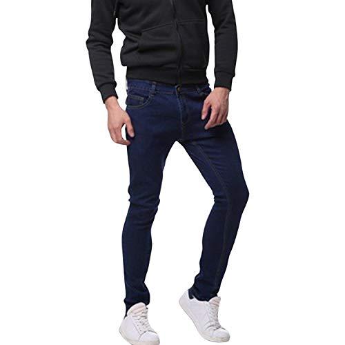 Libertepe Herren Hosen CHIO Hose High Waist Regular Fit Jeans mit Reißverschluss Mode Sweathose Streetwear