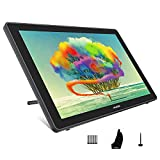 HUION 2020 Kamvas 22 Graphic Drawing Monitor Pen Display Drawing Tablet Screen Tilt Function 8192 Battery-Free Stylus, Come with Glove, Adjustable Stand,20 Pen Nibs -21.5 Inch
