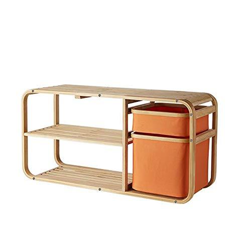 JCNFA-BOEKENPLANK Multi-layer Schoenenrek/Doek Rack, Dust Schoen Kabinet, Rechthoekige Kast, Shoe Verandering Bank, Groen, Oranje (Color : Orange, Size : 35.43 * 11.81 * 17.32in)