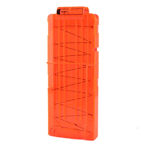Soft Clip Magazin, iTECHOR Soft Bullet Clip Magazin für 12 Darts für Nerf N-Strike Elite Serie Spielzeuggewehre---Transport Orange