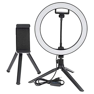 (US Stock)10 inch LED Ring Light With Stand Fil...