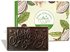 House of Nutrition Happy Birthday Chocolate Gift Bar 140 gm