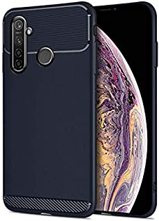 For Oppo Realme 5 pro Case, Slim Flexible Armor Case, Carbon Fiber Full Protection Silicone TPU Phone Cover Case for Oppo ...