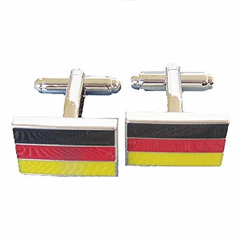 korpikus®' Deutsche Flagge ' Theme Edelstahl-Manschettenknöpfe In Kostenlose Geschenktüte