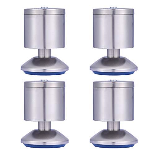 LIOOBO Möbelbeinfernsehkabinettfußbein-Justierbare Füße Des Edelstahls 4Pcs für Kabinettcouch-Sofastuhl - Größe 1