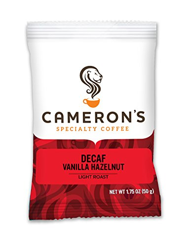 Cameron's Coffee Roasted Ground Coffee Bags, Flavored, Decaf Vanilla Hazelnut, 1.75 Ounce (Pack of 24)
