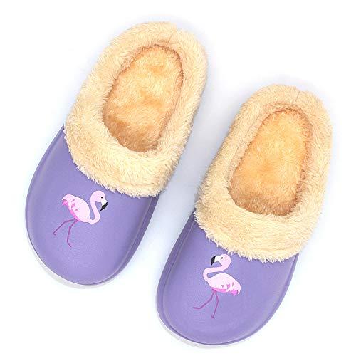 Pantofole Bambini Invernali Home Morbido Antiscivolo di Scarpe Calde Foderate in Peluche Carine Cartone Animato Pantofole per Ragazzi Ragazze