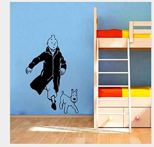 Pegatinas De Pared Decorativas Perro Mascota Serie Generación Tallada Personalidad Dormitorio Estudio Tienda De Mascotas Ventana Fondo Pared 57 * 38 Cm