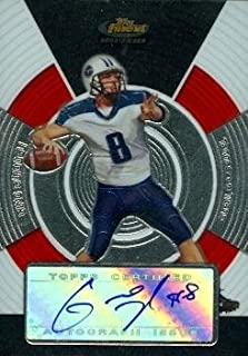 Gino Guidugli Autographed Football Card (Tennesse Titans) 2005 Topps Finest Rookie