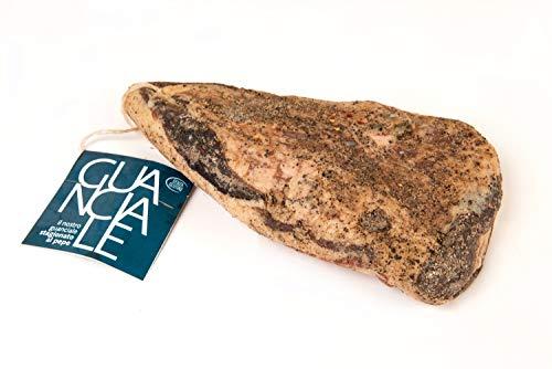 Guanciale sazonado con pimienta de aproximadamente kg 1.200, fábrica de embutidos Corte Marchigiana
