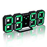 DUOBANGS Reloj Digital Pared Despertador Analogico Reloj Despertador Digital Reloj Despertador De Reloj De Escritorio Noche Reloj Los Niños Reloj Despertador Green