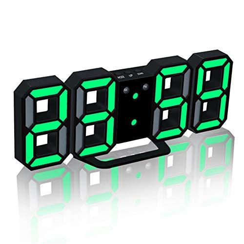TUANTALL funkwecker mit Beleuchtung Uhr mit projektion Sonnenaufgang Wecker Kinderwecker LED Uhr Projektionsuhr digitaler Radiowecker Schlafzimmer Uhr Green