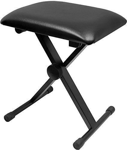 Greenpro Adjustable X Style Cushion Padded Piano Keyboard Bench- Black.