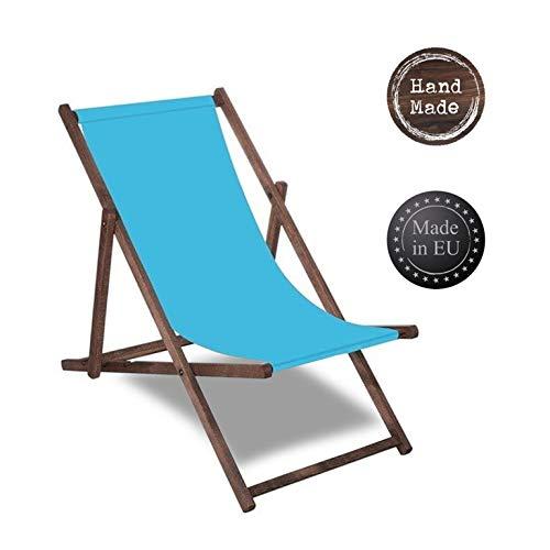 SPRINGOS Liegestuhl Sonnenliege Gartenliege klappbar Relaxsessel Klappstuhl Relaxliege Freizeitliege Haus und Garten (Blau)