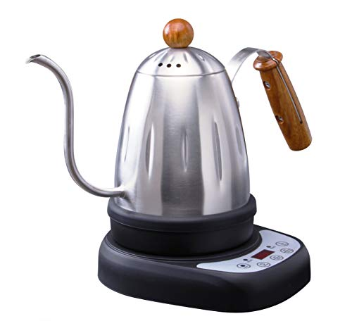 Diguo Variable Temperature Digital Electric Gooseneck Kettle, Pour Over Coffee Kettle Hand Drip Kettle Narrow Spout Premium Stainless Steel Gooseneck Tea Kettle, DG-1738 (Sliver)