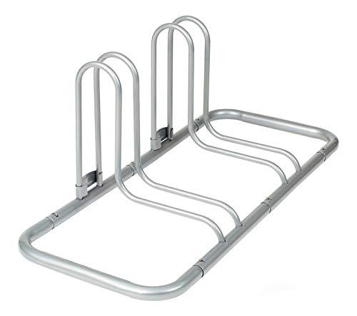 Retrospec Stash Rack 2 Bike Floor Stand Bicycle Storage Organizer, Grey