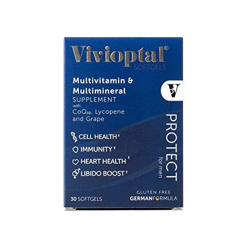 Vivioptal Protect For Men 30 Capsules Multivitamin & Multimineral Supplement CoQ10 Lycopene Resveratrol