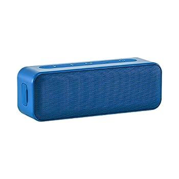 Amazon Basics 15-Watt Bluetooth Stereo Speaker with Water Resistant Design - Blue