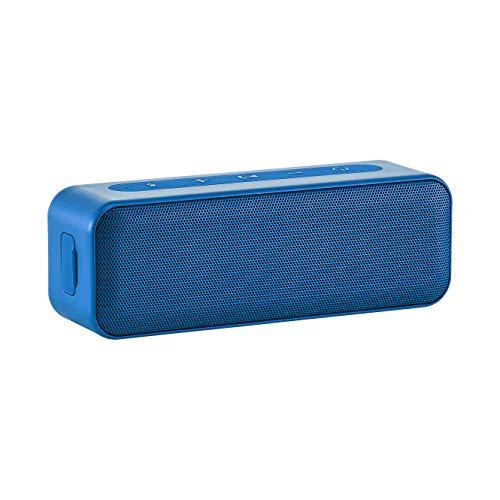 Amazon Basics - Altavoz estéreo bluetooth de 15 vatios con diseño resistente al agua, Azul