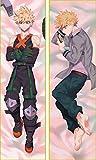 Zenghh Funda de Almohada de Doble Cara patrón de mi héroe Academia Bakugou Katsuki 150x50cm, 160x50cm (59 x 19.6in, 63i X 19.6in) Cojín (Color : 150cm x 50cm)